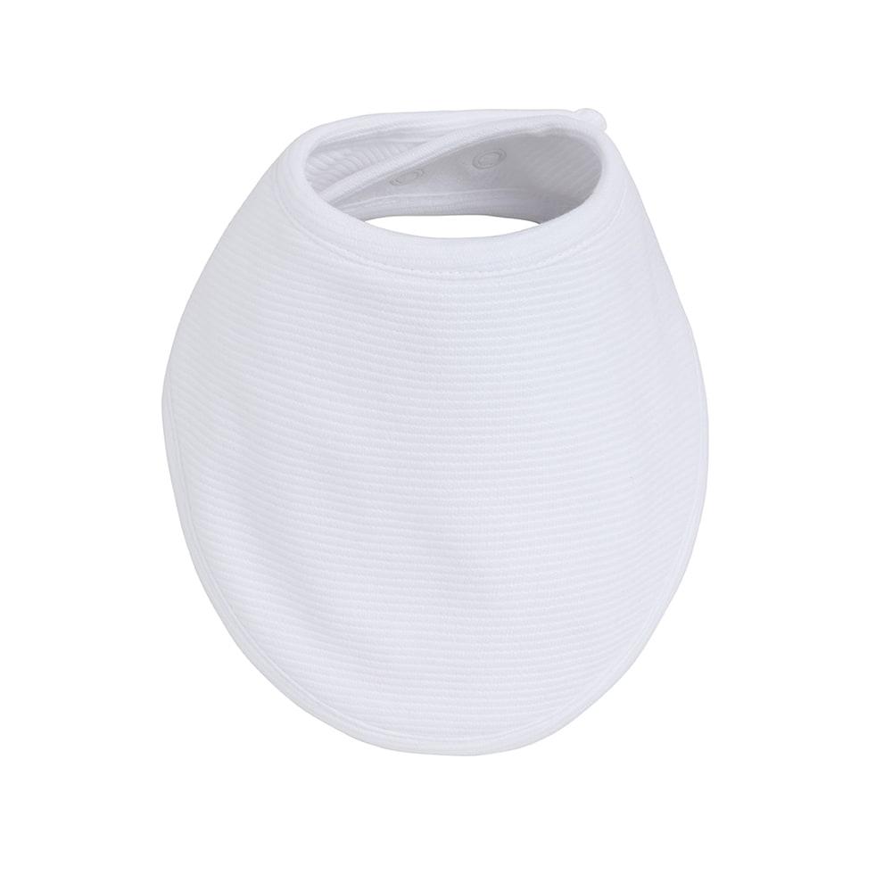 bandana bib pure white