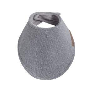 Bandana bib Sparkle silver-grey melee