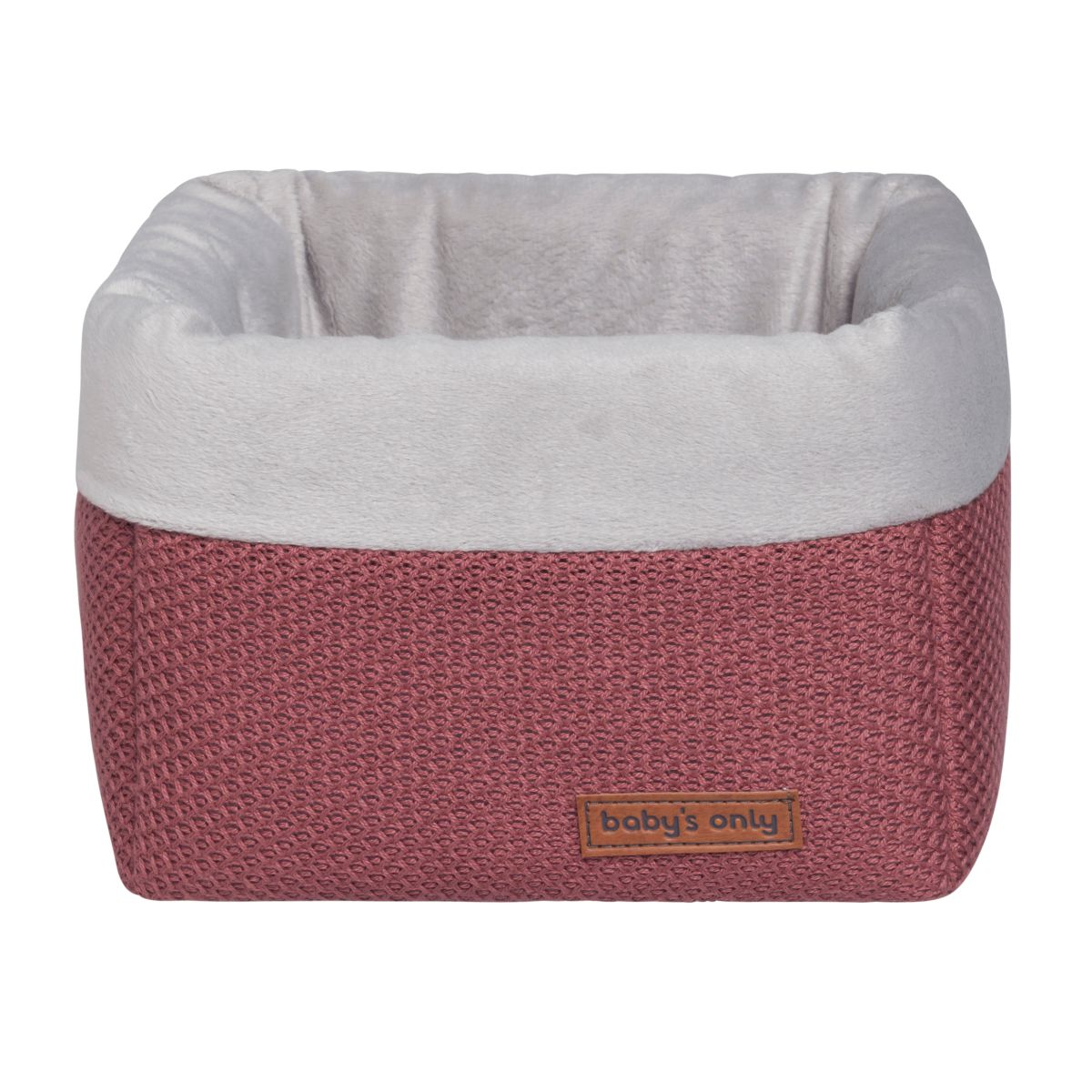 basket classic stone red