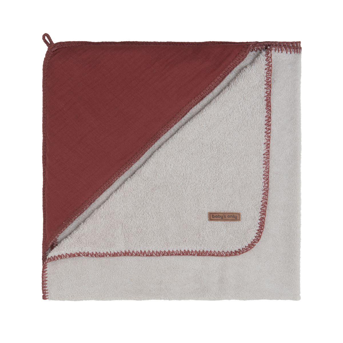 bathcape breeze stone red 75x85
