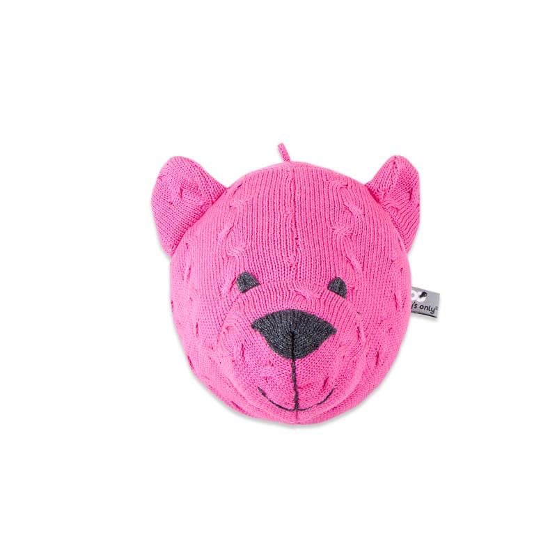 bear head cable fuchsia