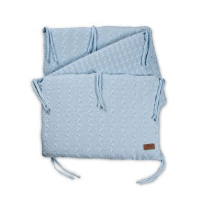 Bed bumper Cable baby blue
