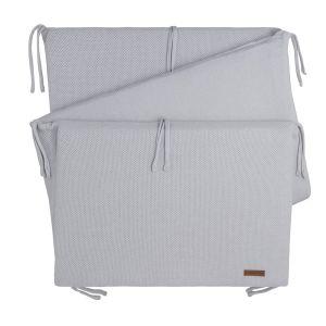 Bed bumper Classic silver-grey