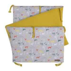 Bed bumper Forest mustard