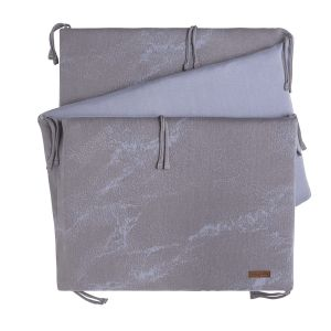 Bed bumper Marble cool grey/lilac