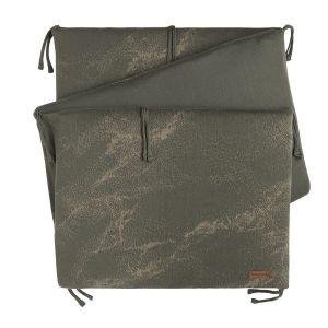 Bed bumper Marble khaki/olive