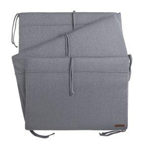Bed bumper Sparkle silver-grey melee