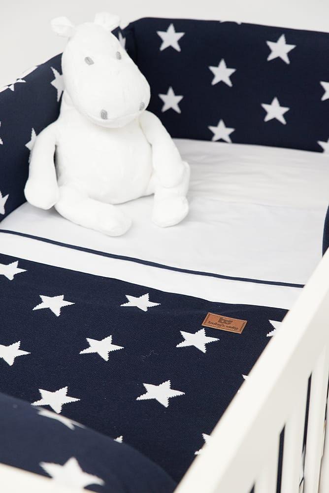bed bumper star beigewhite