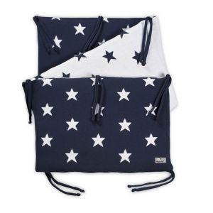 Bed bumper Star dark blue/white