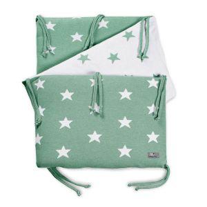 Bed bumper Star mint/white