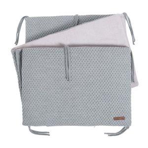 Bed bumper Sun grey/silver-grey