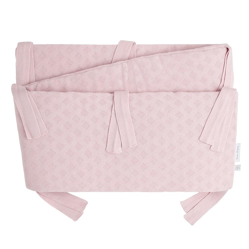 bedplaypen bumper reef misty pink