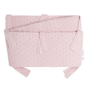Bed/playpen bumper Reef misty pink