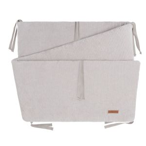 Bed/playpen bumper Sense pebble grey