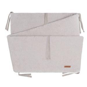 Bed/playpen bumper Sense pebble grey