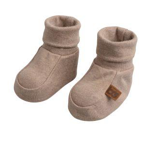 Booties Melange clay - 0-3 months