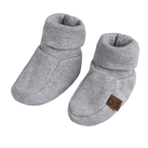 Booties Melange grey - 0-3 months