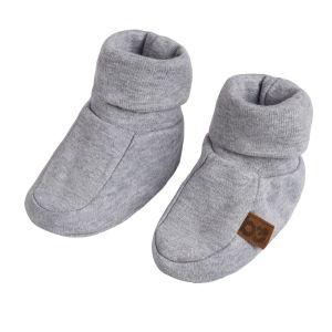 Booties Melange grey - 0-3 months