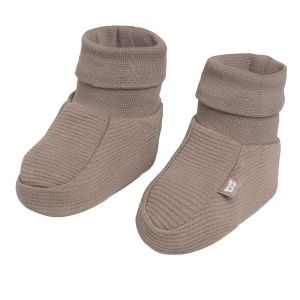 Booties Pure mocha - 3-6 months