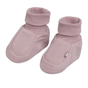Booties Pure old pink - 0-3 months