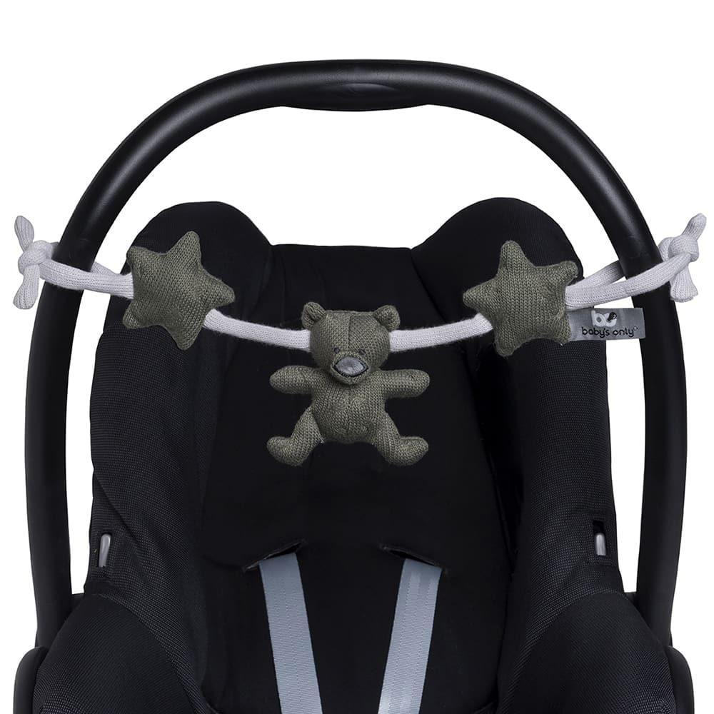 car seat toy khakisilvergrey