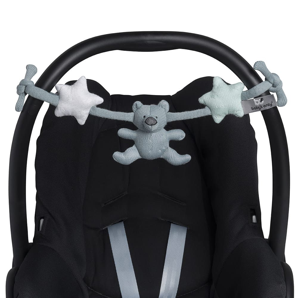 car seat toy stonegreenmintwhite