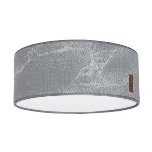 Ceiling lamp Marble grey/silver-grey - Ø35 cm