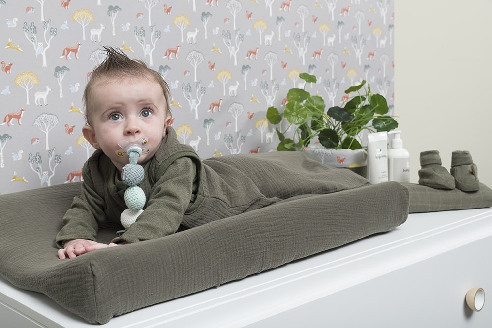 changing pad cover breeze grey 45x70