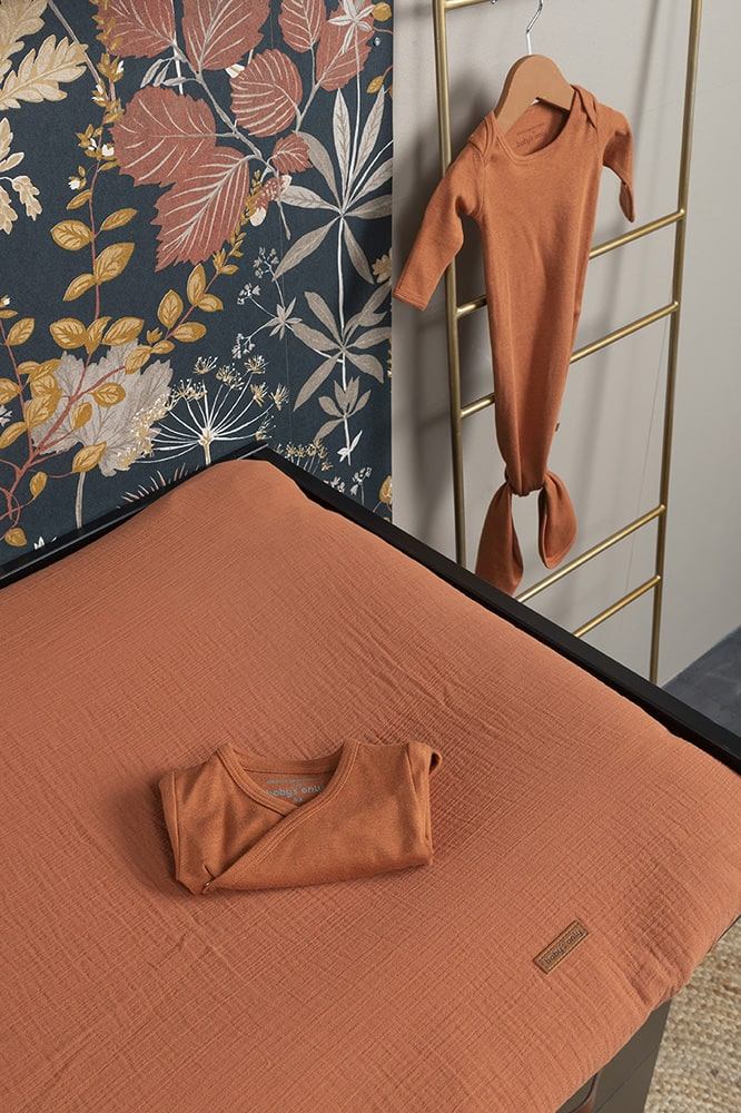 changing pad cover breeze rust 75x85
