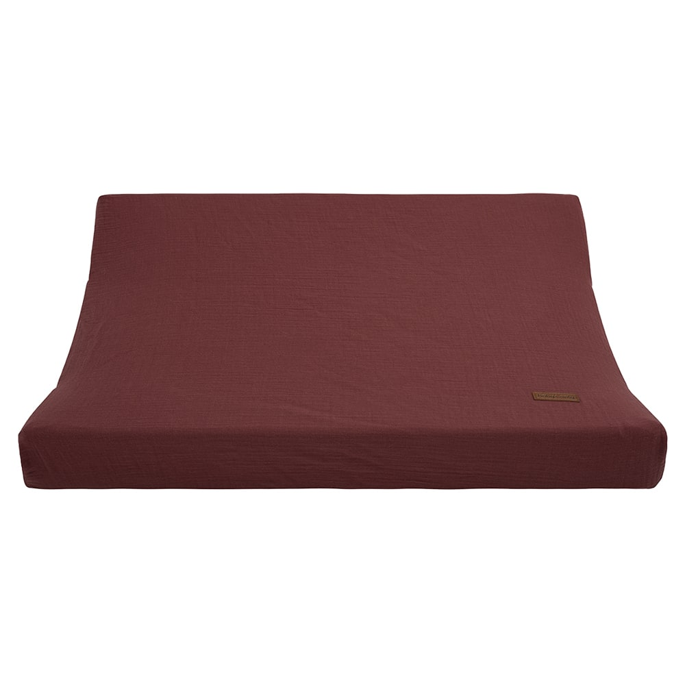 changing pad cover breeze stone red 45x70