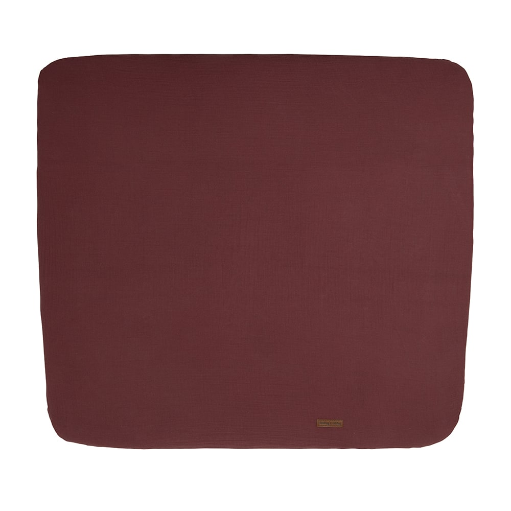 changing pad cover breeze stone red 75x85
