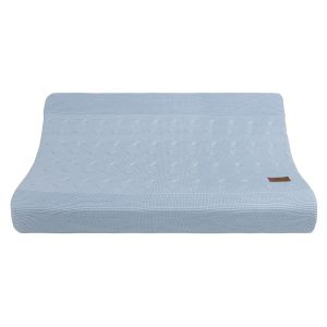Changing pad cover Cable baby blue - 45x70