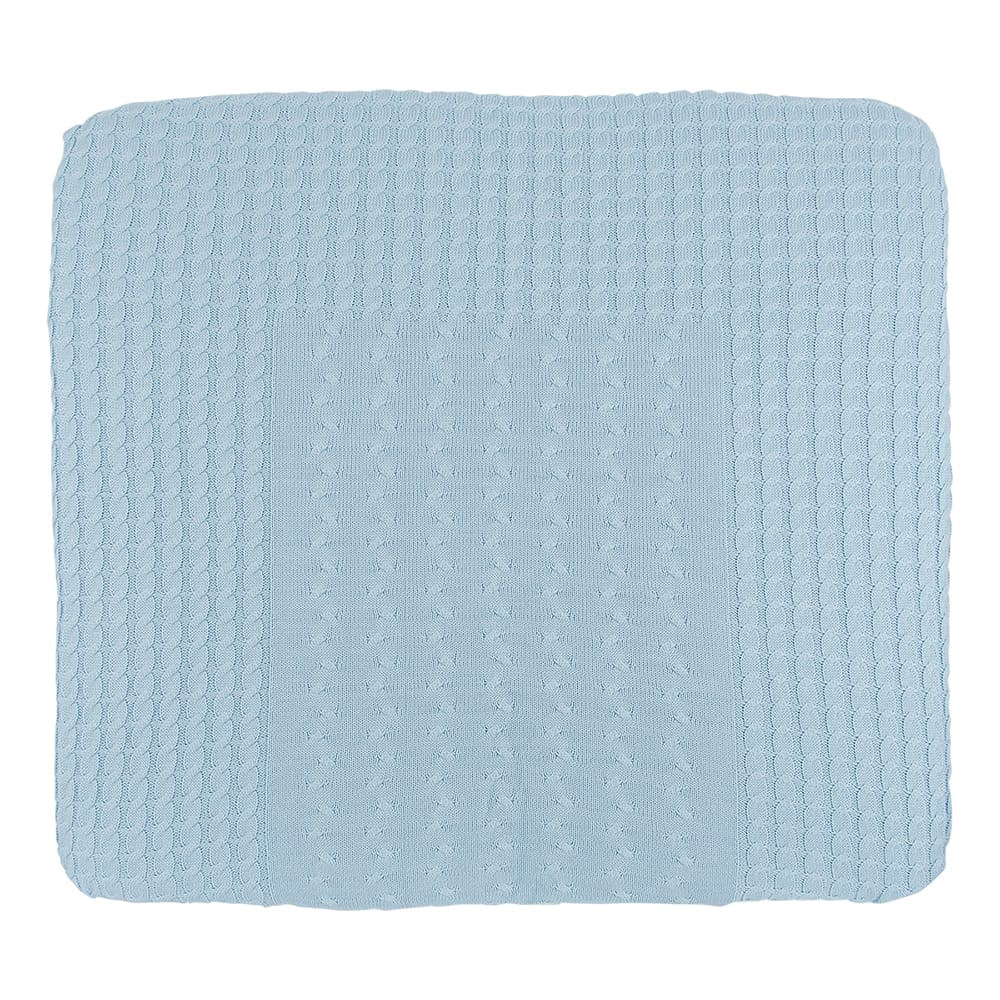 changing pad cover cable baby blue 75x85