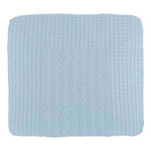 Changing pad cover Cable baby blue - 75x85