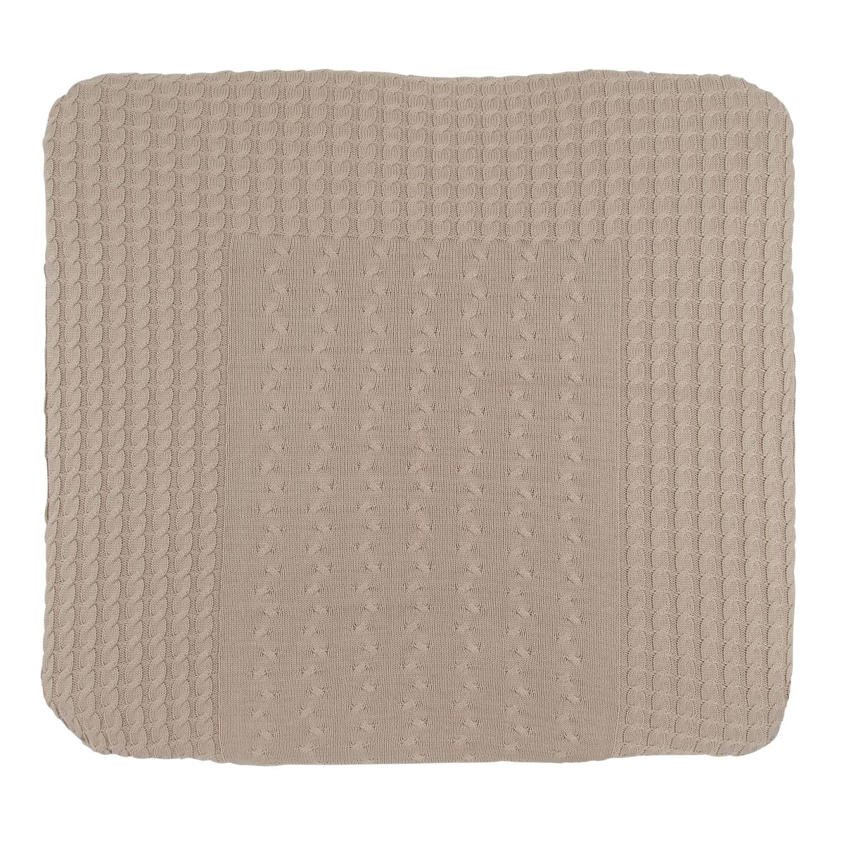 changing pad cover cable beige 75x85
