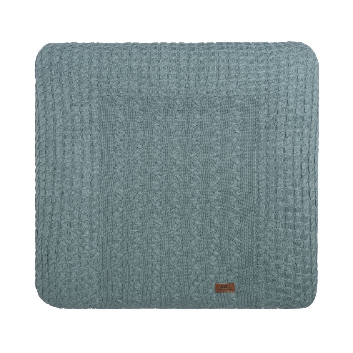 changing pad cover cable stonegreen 75x85