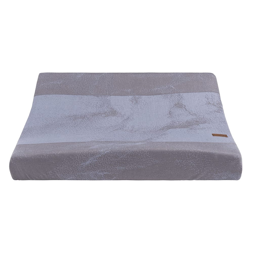changing pad cover marble cool greylilac