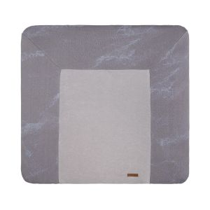 Changing pad cover Marble cool grey/lilac - 75x85