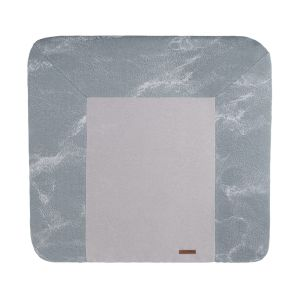 Changing pad cover Marble grey/silver-grey - 75x85