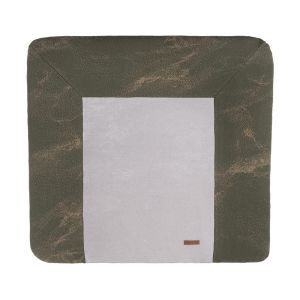 Changing pad cover Marble khaki/olive - 75x85