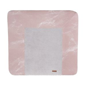Changing pad cover Marble old pink/classic pink - 75x85