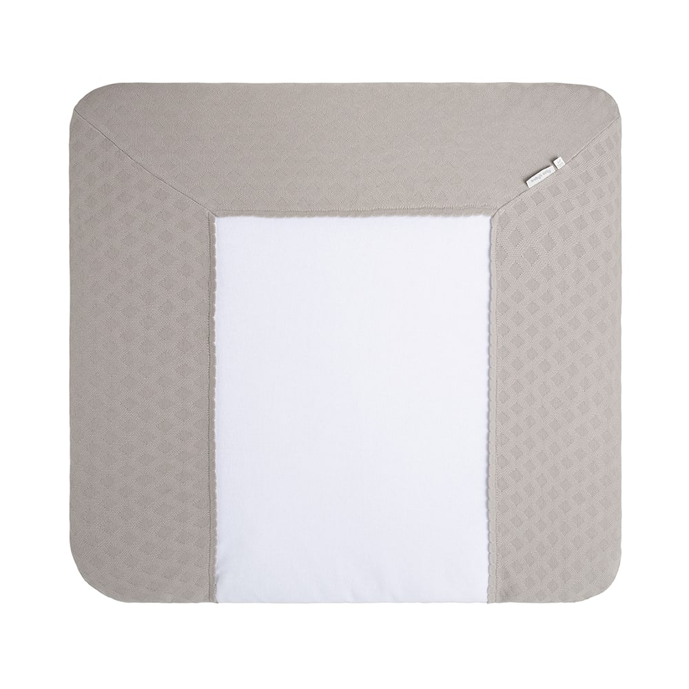 changing pad cover reef urban taupe 75x85