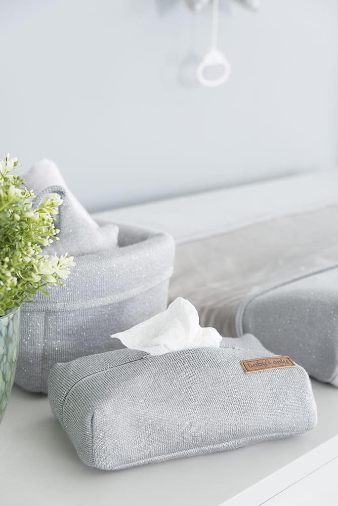changing pad cover sparkle silvergrey melee 45x70