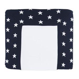 Changing pad cover Star dark blue/white - 75x85