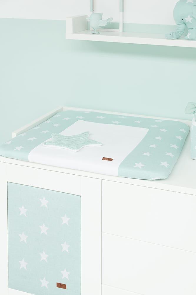 changing pad cover star dark bluewhite 75x85