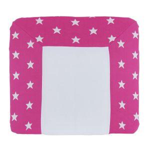 Changing pad cover Star fuchsia/white - 75x85