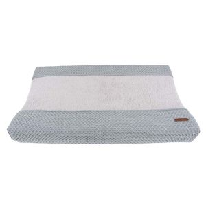 Changing pad cover Sun grey/silver-grey - 45x70