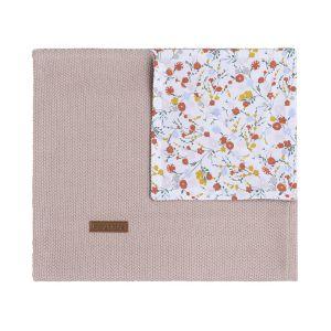 Cot blanket Bloom old pink
