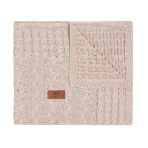 Cot blanket Cable beige