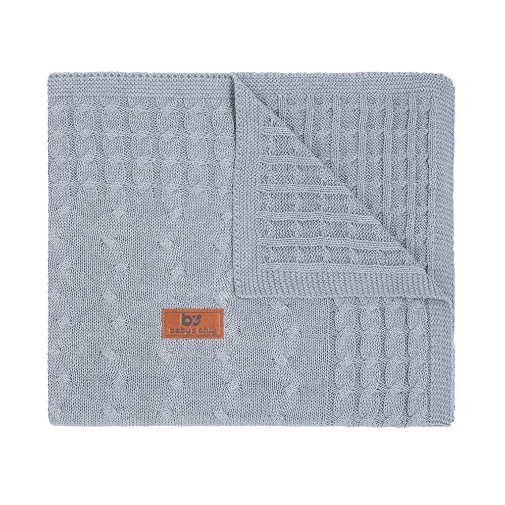 cot blanket cable grey